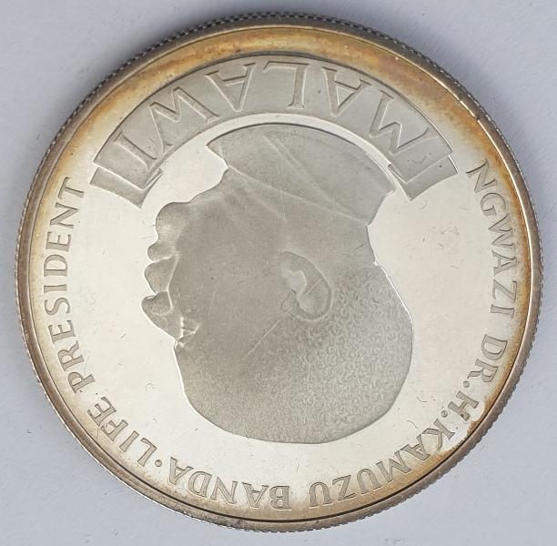 Malawi - 10 Kwacha 1974, Independence, Silver