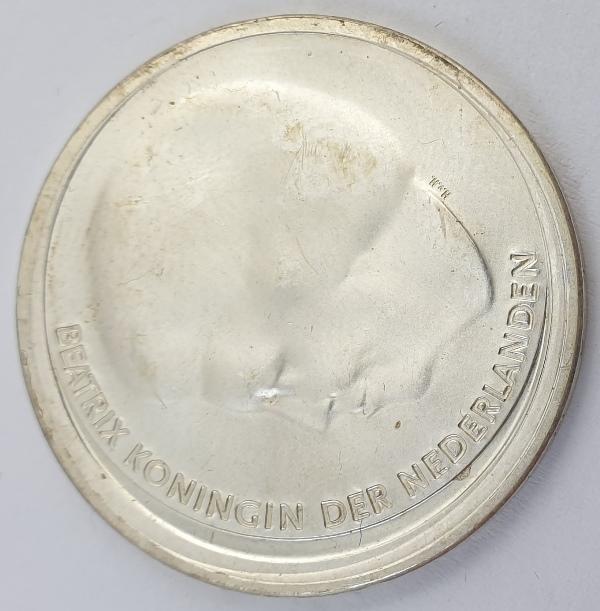 Nederland - 10 Euro 2002, Beatrix Royal Wedding, Silver