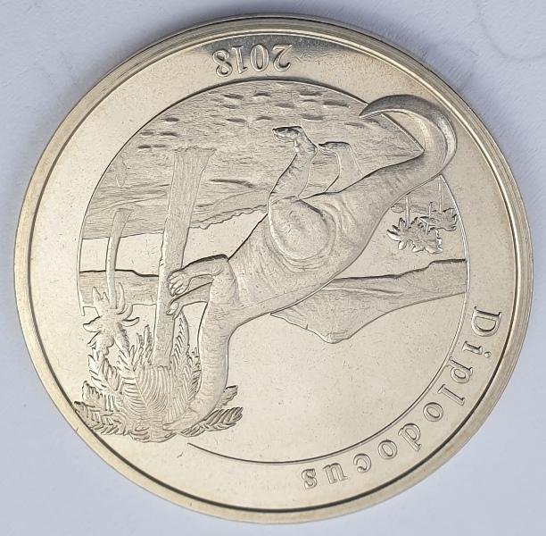 Mayotte - 1 Franc 2018 (Diplodocus)