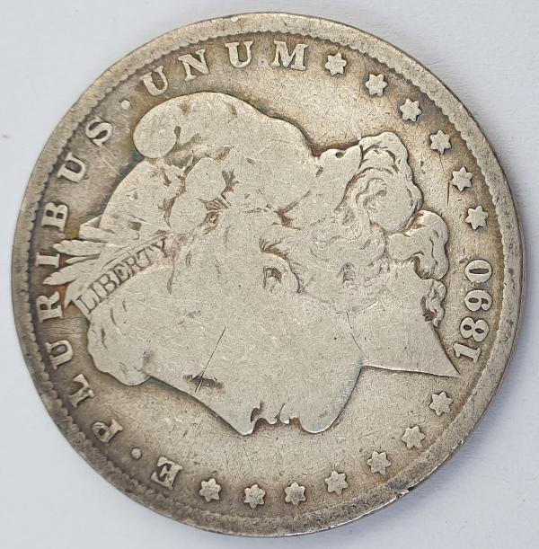 "USA - 1 Dollar 1890, ""Morgan Dollar"", Silver"