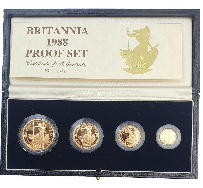 England - Four Coin Britannia Collection 1988, Gold Proof Set