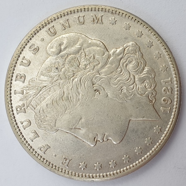 "USA - 1 Dollar 1921(s), ""Morgan Dollar"", Silver"