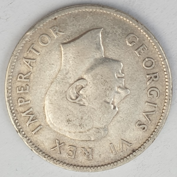 South Africa - 2 Shillings 1943, George VI, Silver