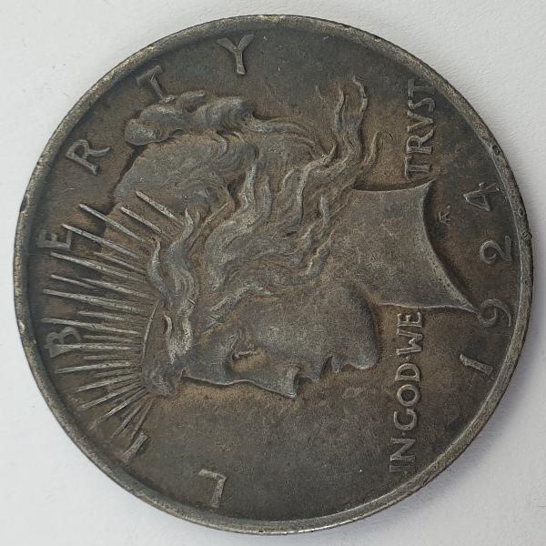 """USA - 1 Dollar 1924, """"Peace Dollar"""", Silver"""