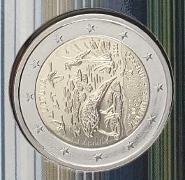 Lithuania - 2 Euro 2021 Unesco, (Coin Card)