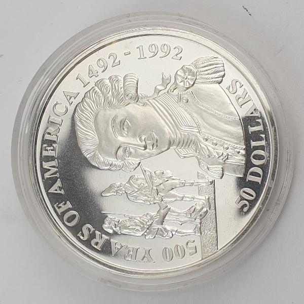 Cook Islands - 50 Dollars 1991 - Elizabeth II, Marquise de Lafayette, Silver Proof