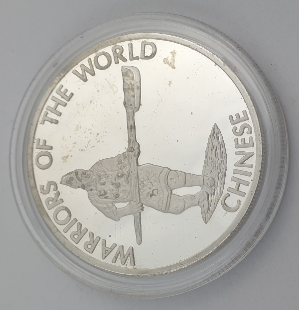 Congo - 10 Francs 2010, Chinese Warrior, Silver