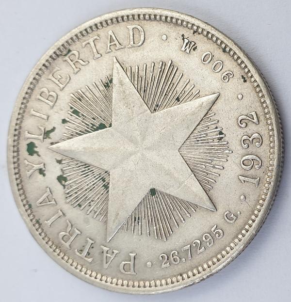 Cuba - 1 Peso 1932, Silver