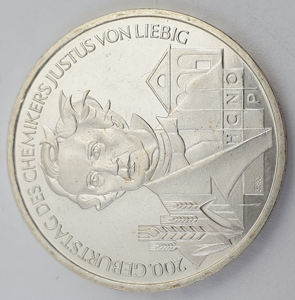 Germany - 10 Euro 2003, Justus von Liebig, Silver