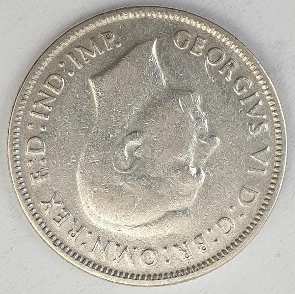 Australia - 1 Florin 1942, George VI, Silver