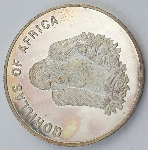Uganda - 1000 Shillings 2002, Seated gorilla