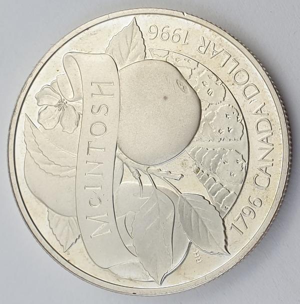 Canada - 1 Dollar 1996, Elizabeth II, McIntosh Apple