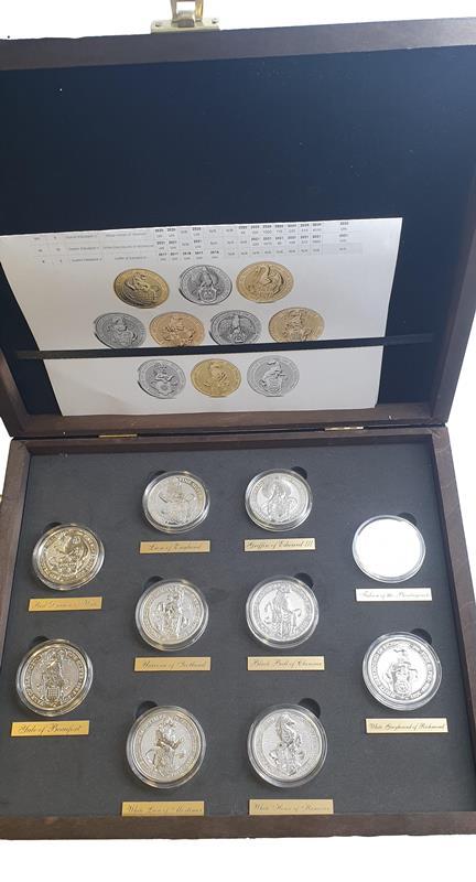England - Ten Coin 2 OZ Set, Queen' s Beasts, Silver 999*