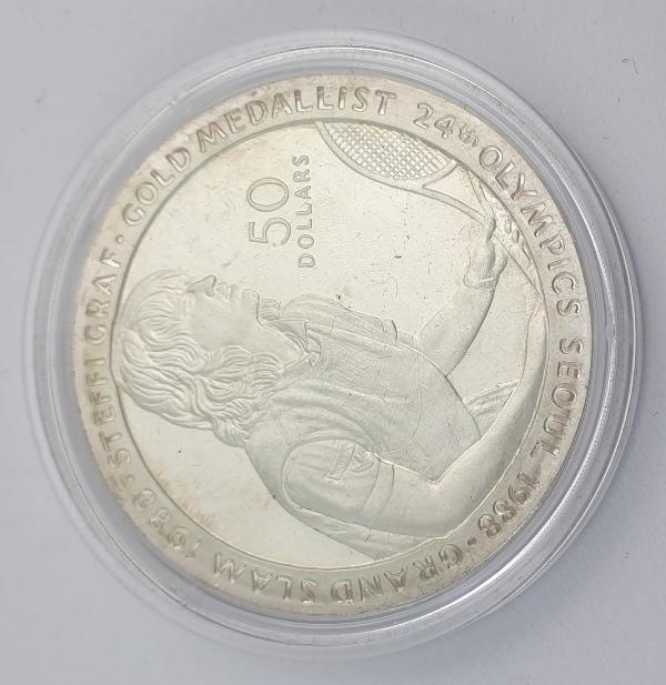 Niue - 50 Dollars 1989 - Elizabeth II, Seoul Olympics games, Silver