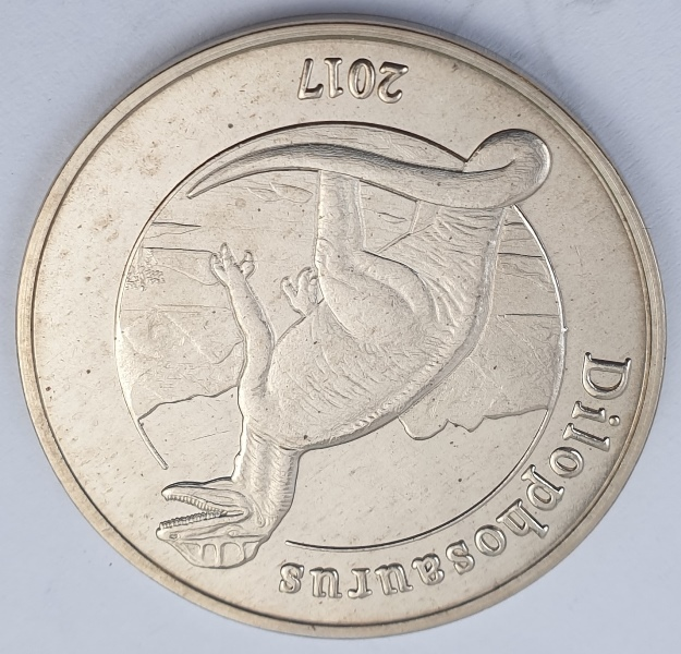 Mayotte - 1 Franc 2017 (Dilophosaurus)