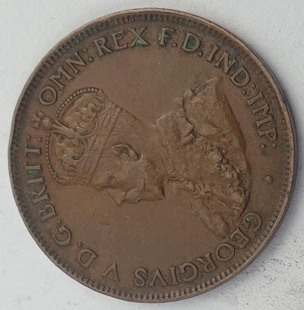 Australia - Half Penny 1927, George V