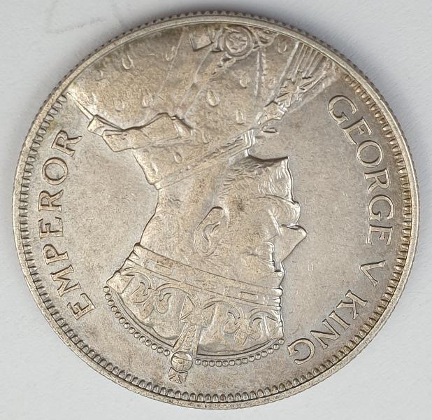 New Zealand - Half Crown 1934, George V, Silver