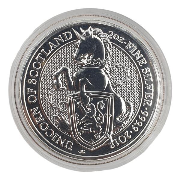 England - 2 OZ 2018 - Unicorn of Scotland, Silver 999*