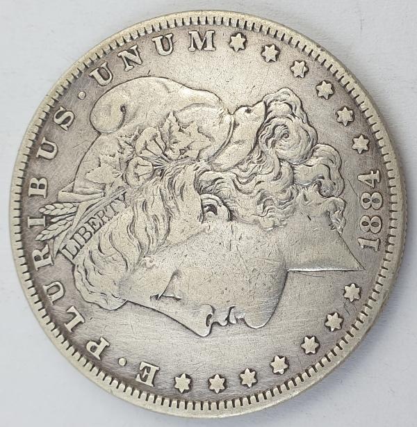 "USA - 1 Dollar 1884, ""Morgan Dollar"", Silver"