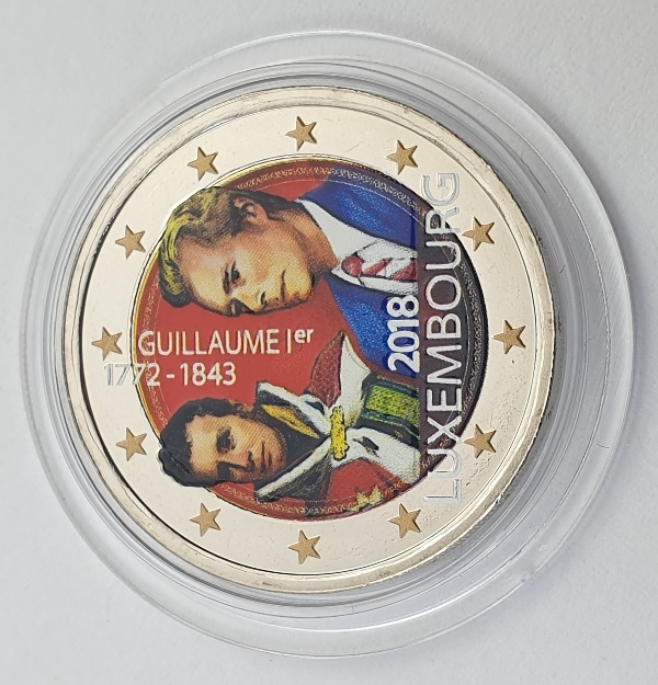 Luxembourg - 2 Euro 2018, Color, UNC