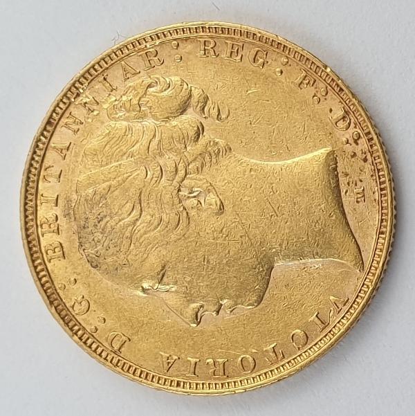 England - 1 Sovereign 1885 (M) AU, Victoria