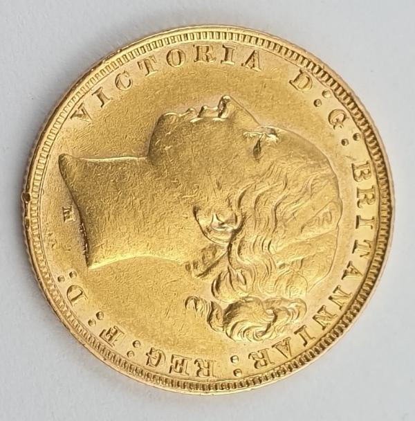 England - 1 Sovereign 1881 (M) AUNC, Victoria