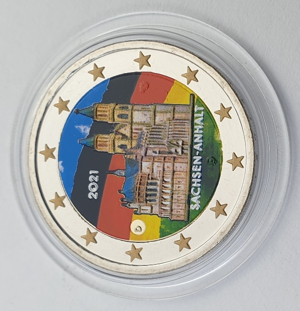 Germany - 2 Euro 2021 D, Color, UNC