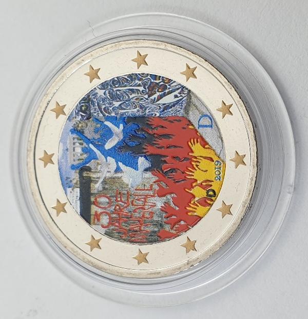 Germany - 2 Euro 2019 D, Color, UNC