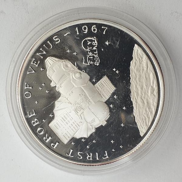 Marshall Islands - 50 Dollars 1967, First Probe of Venus, Silver 999*