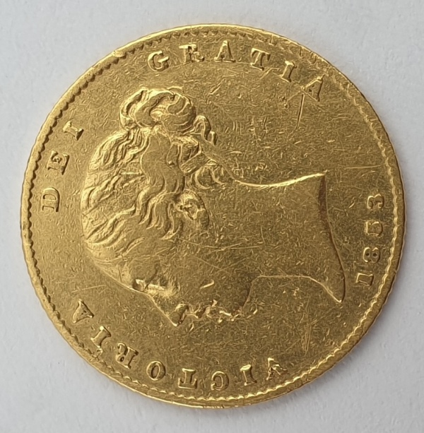 England - Half Sovereign 1853, Victoria shield
