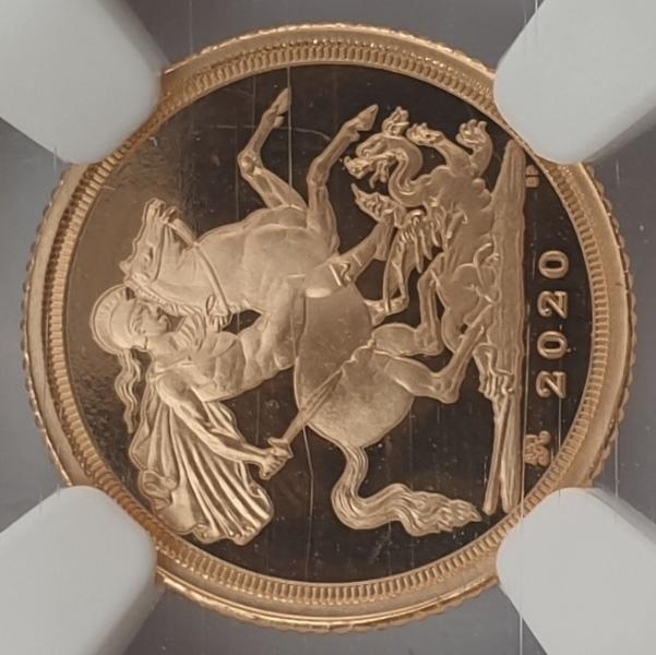 England - Quarter Sovereign 2020 (PF 70 ULTRA CAMEO), King George III Privy, G. Britain