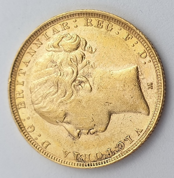 England - 1 Sovereign 1884 (M) AUNC, Victoria