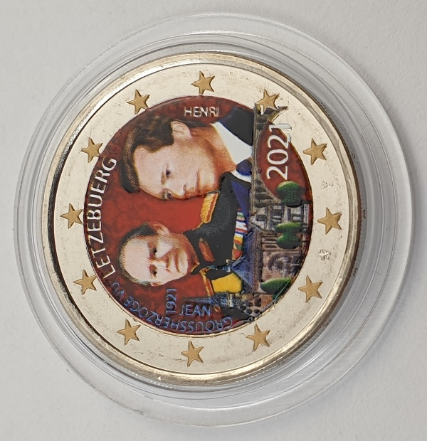 Luxembourg - 2 Euro 2021, Color, UNC