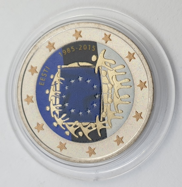 Estonia - 2 Euro (Flag 2015), Color, UNC