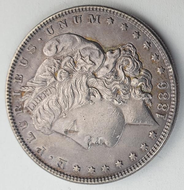 "USA - 1 Dollar 1886, ""Morgan Dollar"", Silver"