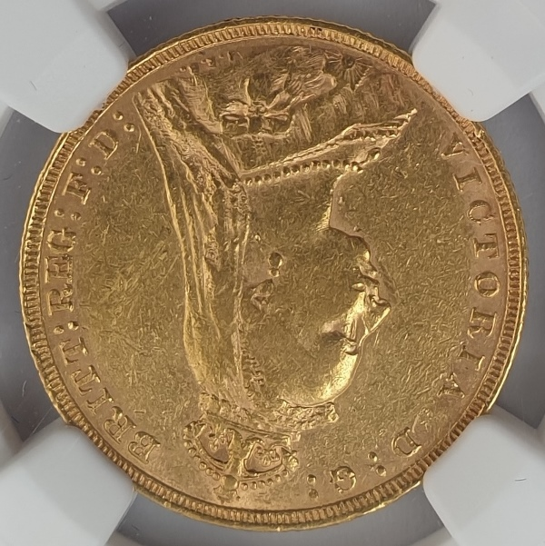England - 1 Sovereign 1891 (AU 50), G. Britain