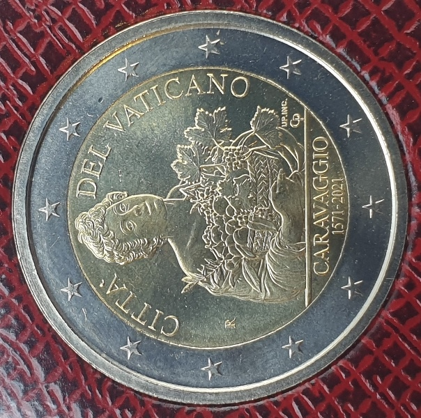 Vaticano - 2 Euro 2021, 450 Anniversario Della Nascita Di Caravaggio, (Coin Card)