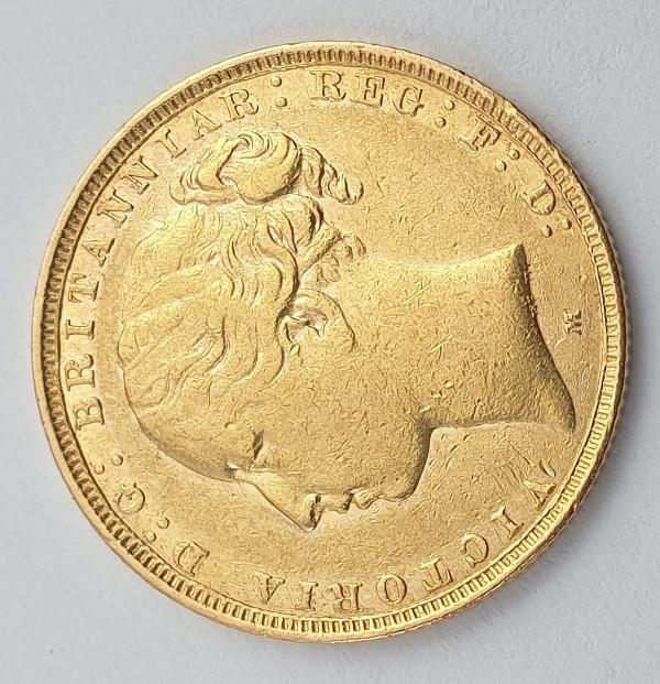 England - 1 Sovereign 1881 (M) No B.P. ( Rare), Victoria