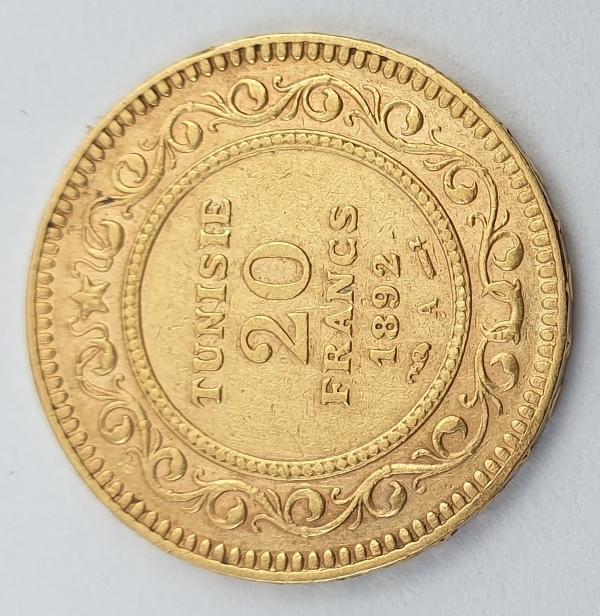 Tunisie - 20 Francs 1892, Ali III