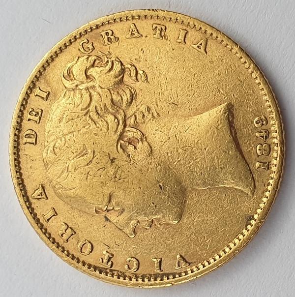 England - 1 Sovereign 1849, Victoria, Rare