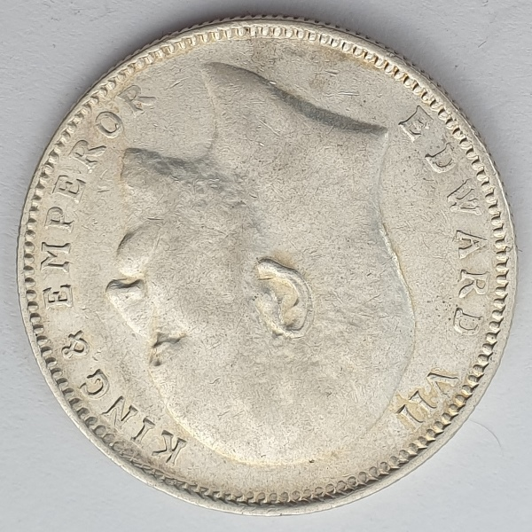 India - 1 Rupee 1909, Edward VII, Silver