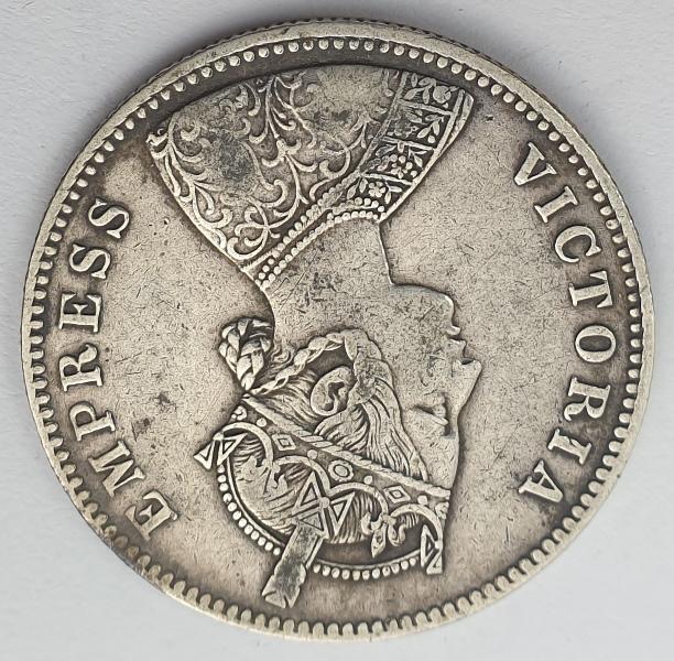 India - 1 Rupee 1882, Victoria, Mangal Singh, Silver