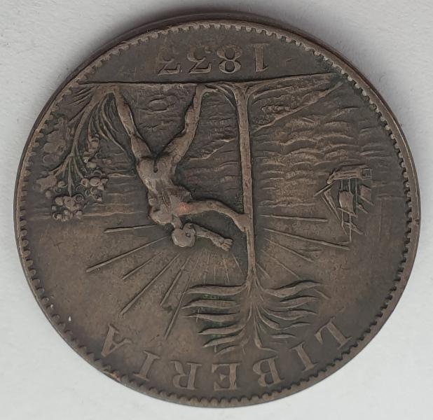Liberia - 1 Cent 1833, Token Coinage