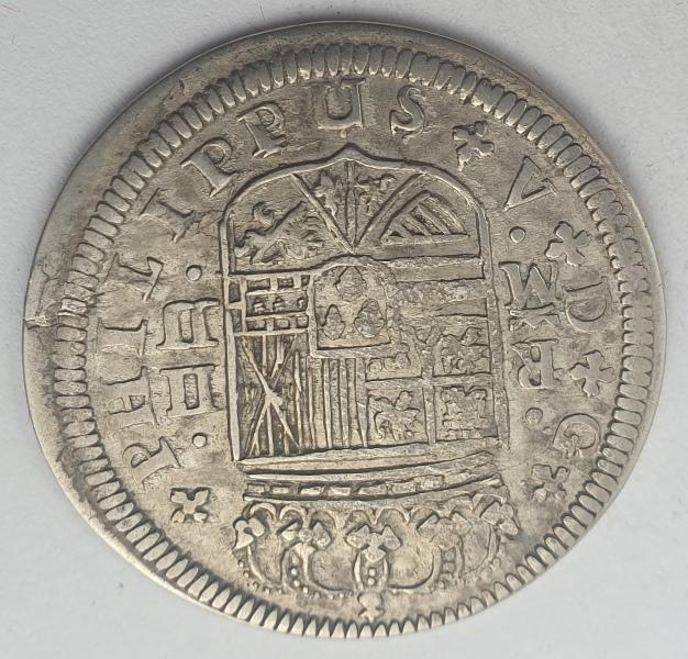Spain - 2 Reales 1720, Felipe V Madrid, Silver