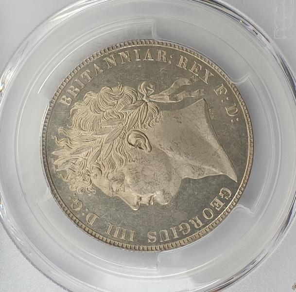 England - Half Crown 1820 (MS 64+), S-3807, George IV, Silver