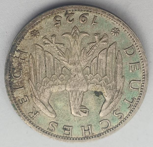 Germany - 1 Reichsmark 1925, Silver
