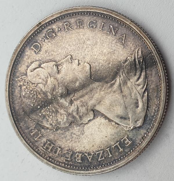 Canada - 50 Cents 1967, Elizabeth II, Confederation, Silver