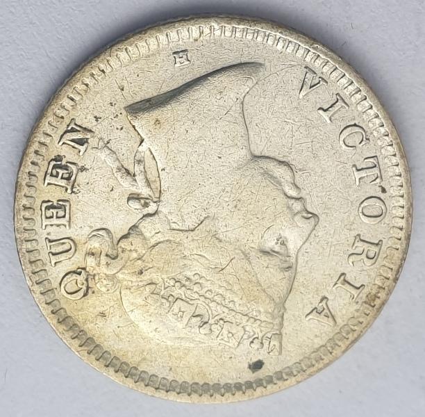 Hong Kong - 5 Cents 1890, Victoria, Silver