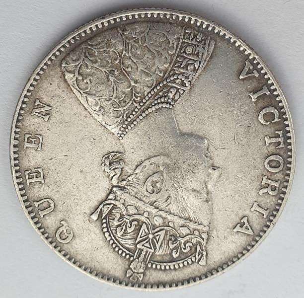 India - 1 Rupee 1862, Victoria, Silver
