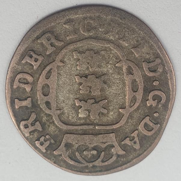 Denmark - 2 Skilling Dansk 1662, Frederik III Shield type IV, Silver